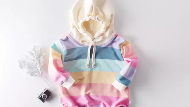 Betsi Rainbow Hooded Romper (personalisable)