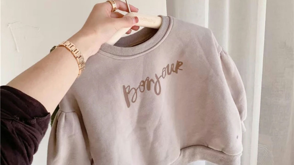 Bonjour Oversized Sweater