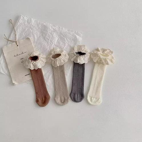 Ribbed frill socks