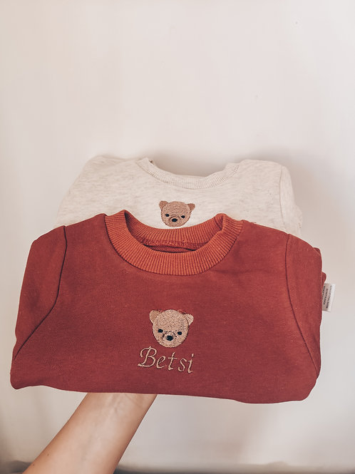 Personalised Embroidered Bear Romper