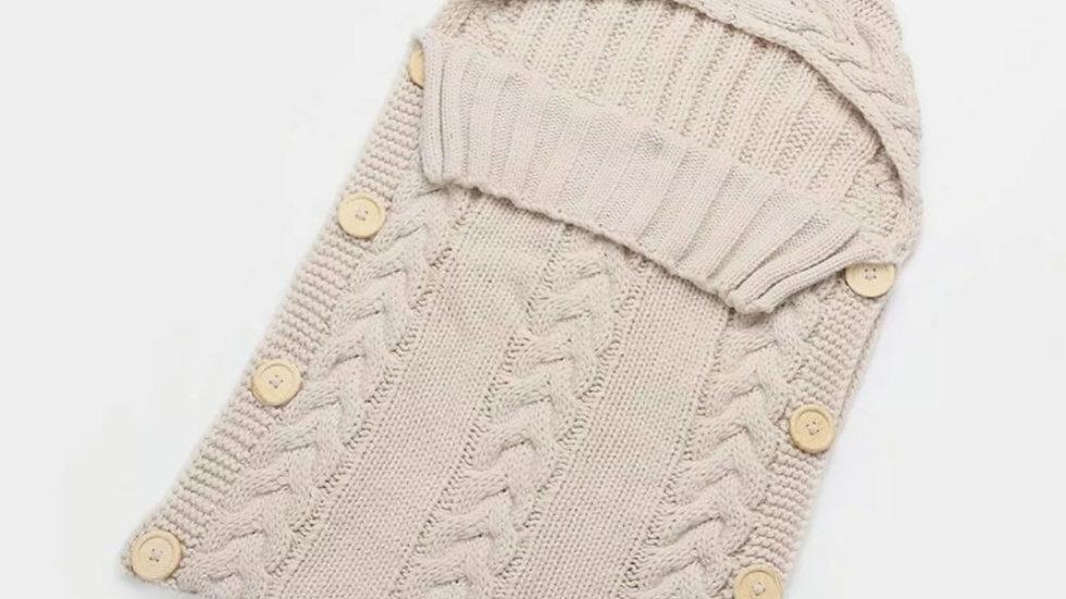 knitted hooded blanket