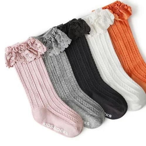 Dainty Frill Knee High socks