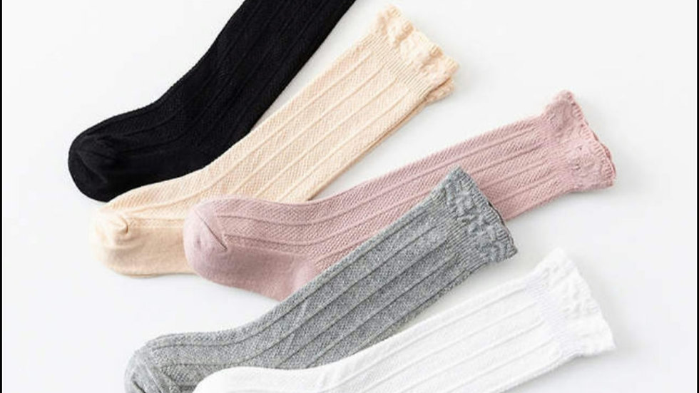 High Leg Cable Socks