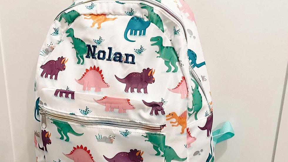 Personalised Dino Backpack
