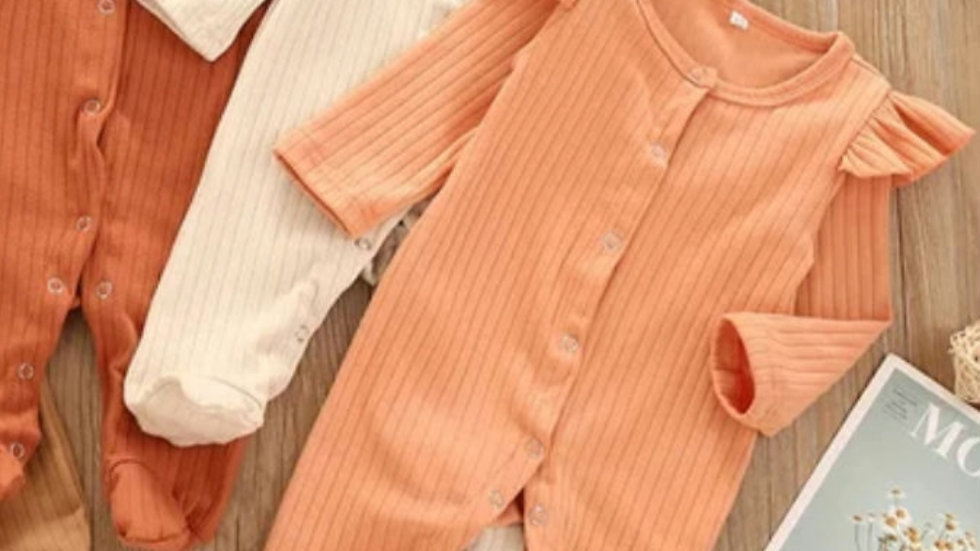 Sienna ribbed Sleepsuit