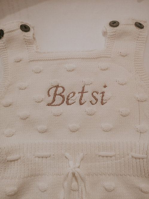 Annie Personalised Knit Romper (3 colours)