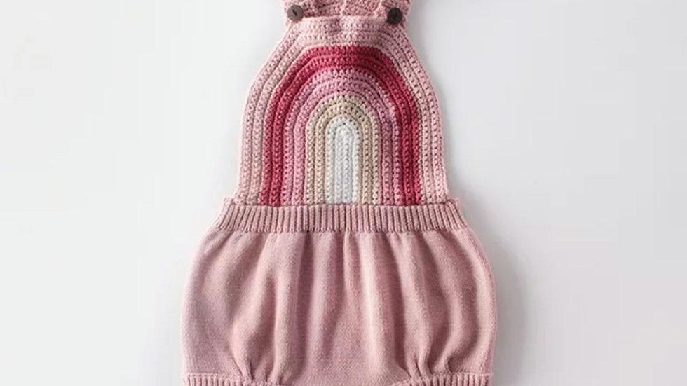 Renee Rainbow Knit Romper