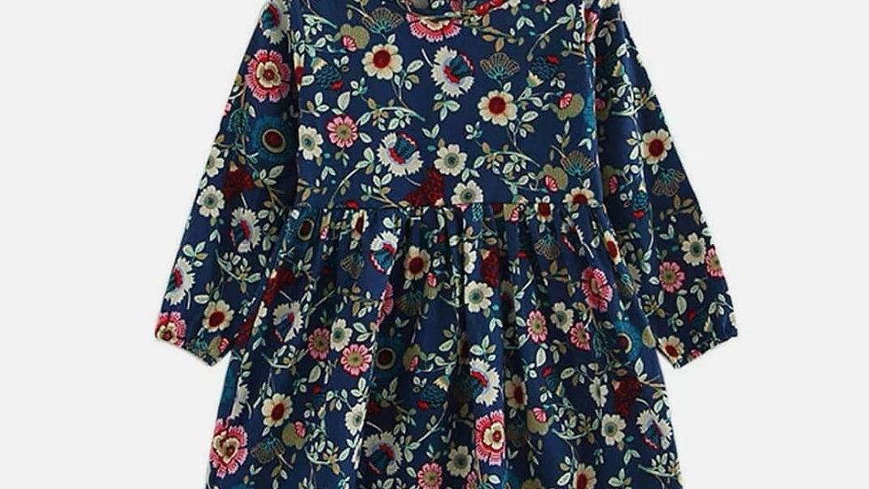 Floral print dress . (3 colours)