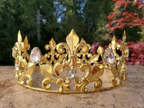 Golden Fleur-de-Lis Crown