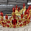 Thumbnail: Red Crystal Fairy Crown in Gold