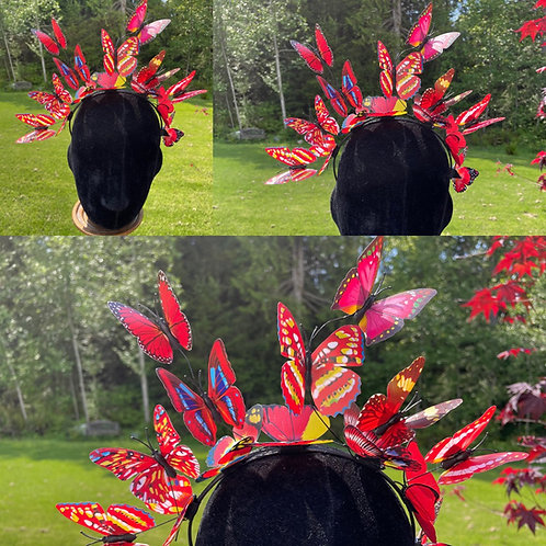 Butterfly Fairy Crown in Red