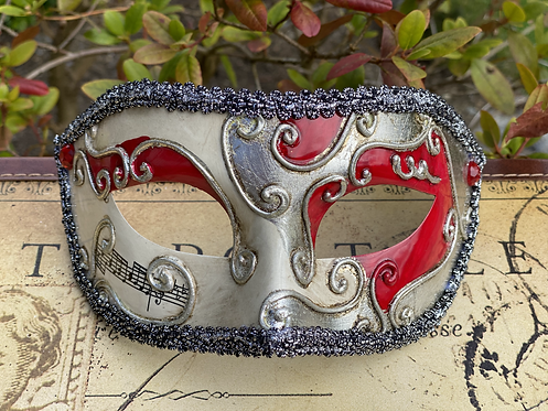 Circus Filigree Mask in Red