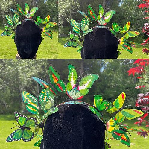 Butterfly Fairy Crown in Green