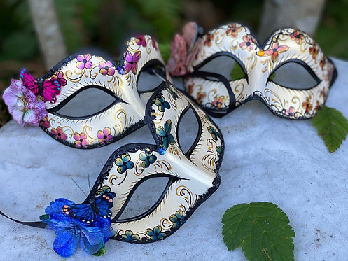 Floral Painted Colombina Mask