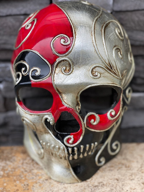 Skull Mask in Red/Black