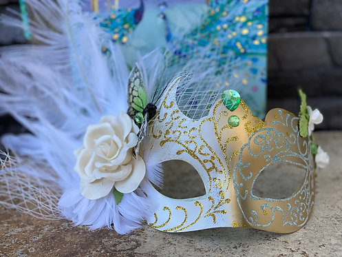 Colombina Feather Mask