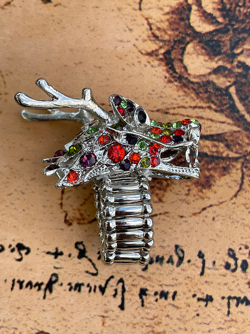 Jeweled Dragon Ring in Multicolor