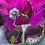 Thumbnail: Feathered Harlequin Mask in Fuchsia