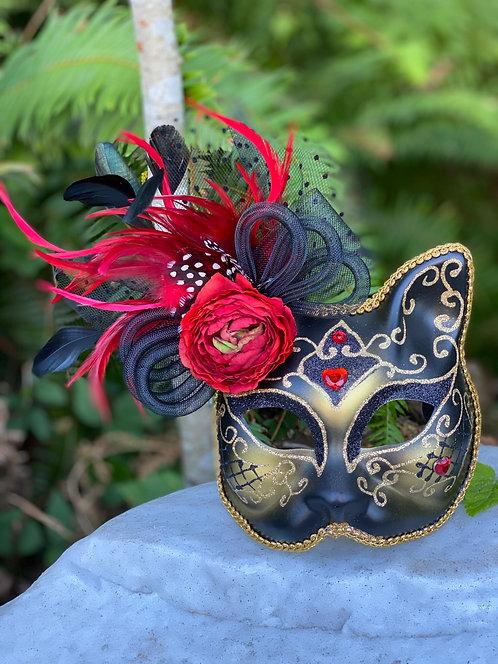 Cabbage Rose Gatto Mask