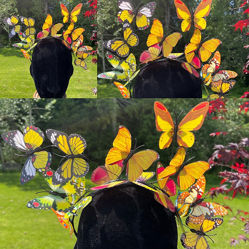Butterfly Fairy Crown in Yellow