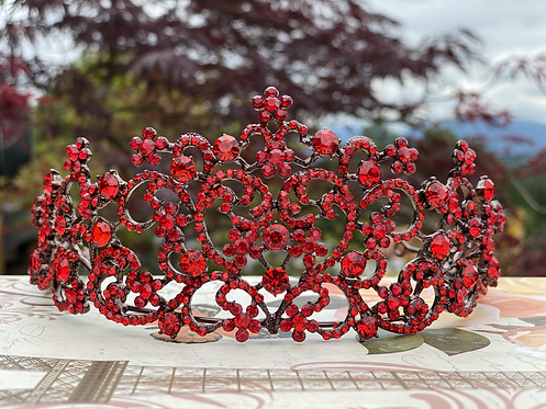 Ravishing Red Tiara