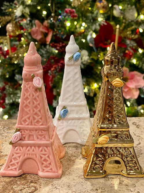 Ceramic Eiffel Tower Set of 3