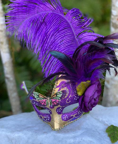 Glittering Violet Swan Mask