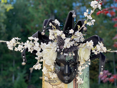 White Branches Jester Mask