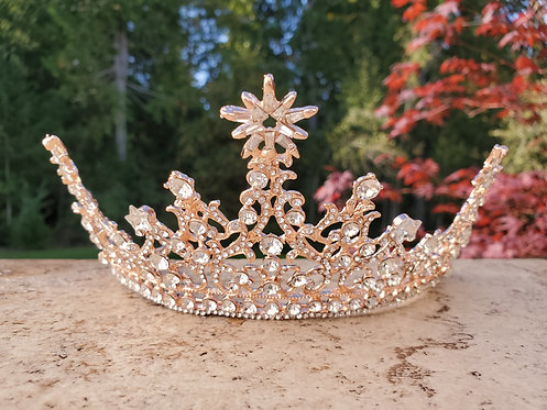 Rose Gold Star Crown