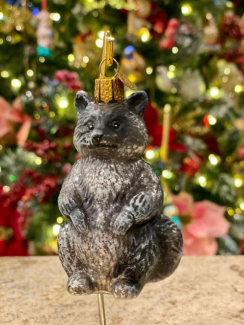 Old World Christmas Raccoon Ornament