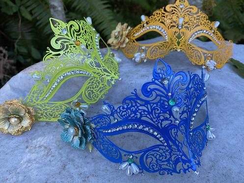 Colorful Metal Filigree Mask