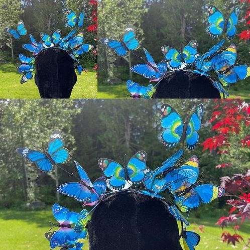 Butterfly Fairy Crown in Blue