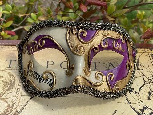 Circus Filigree Mask in Purple