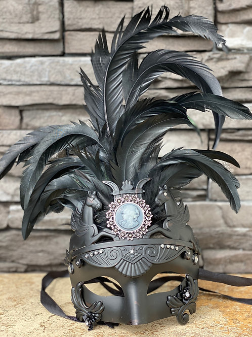 Pegasus Cameo Mask in Black