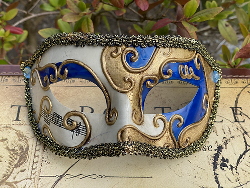 Circus Filigree Mask in Blue