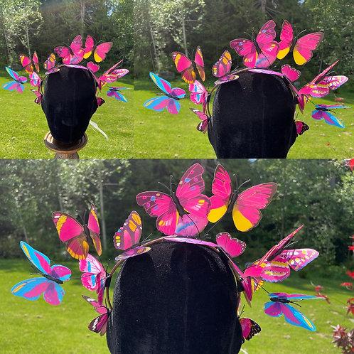 Butterfly Fairy Crown in Fuschia