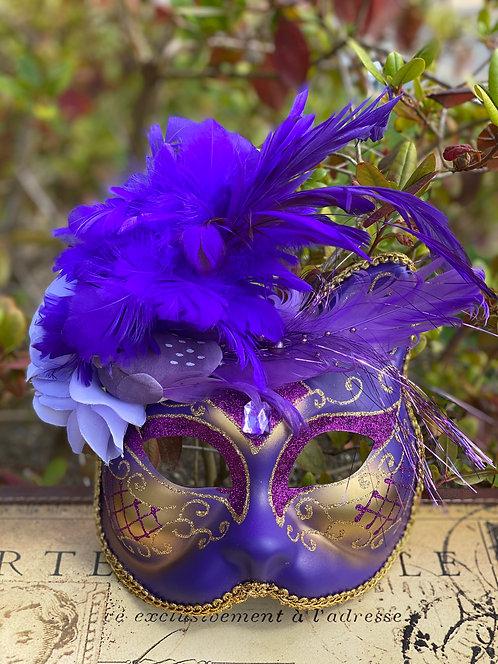 Golden Violet Gatto Mask
