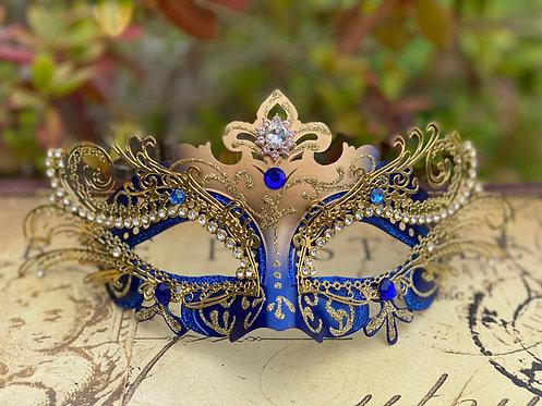 Filigree Mask in Blue