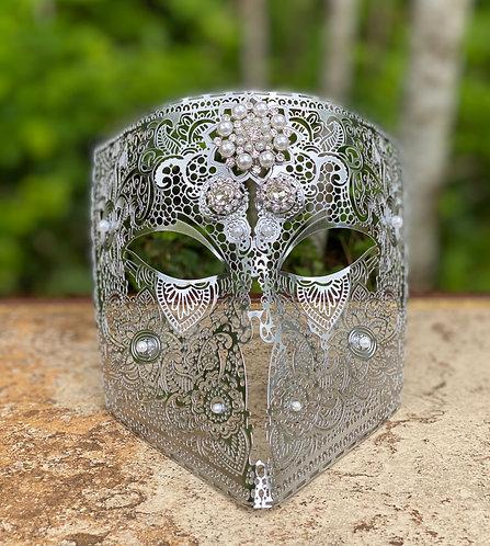Metal Filigree Bauta Mask