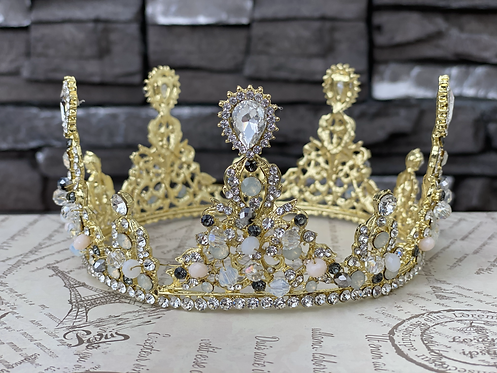Beaded Crystal Crown
