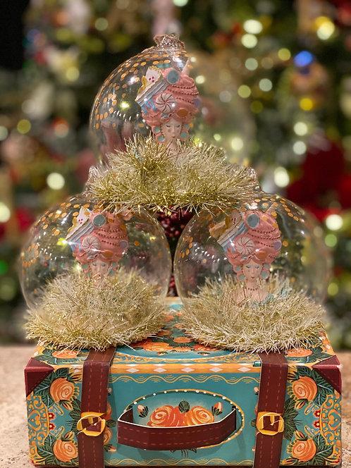 Marie Antoinette Globe Ornament