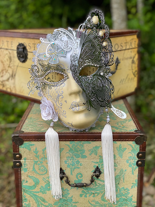 Full Face Fairy Mask in Silver