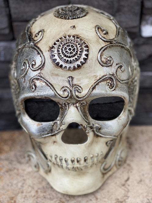 Steampunk Skull Mask in Silver