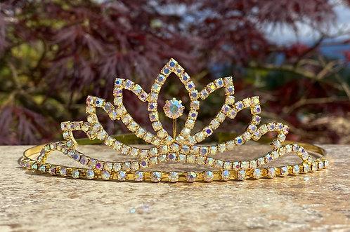 Golden Iridescence Tiara