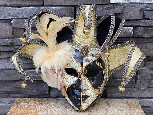 Venetian Jester Mask in Gold