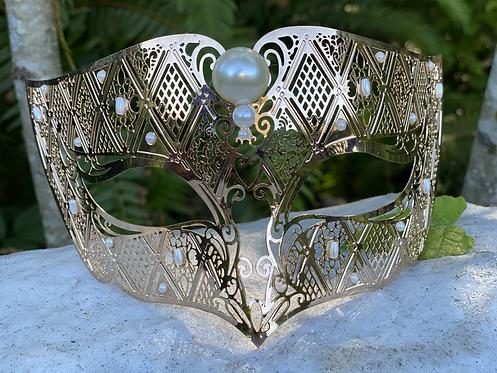 Metal Columbine Mask in Copper