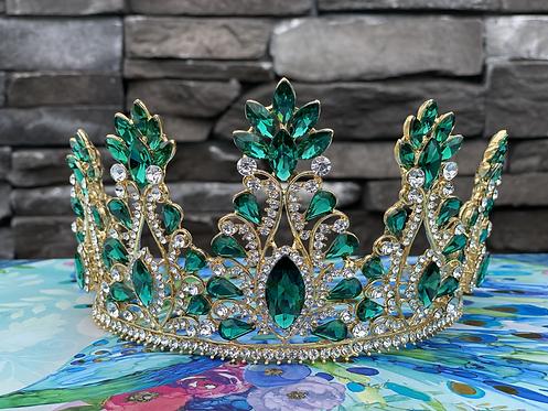 Emerald Elegance Crown