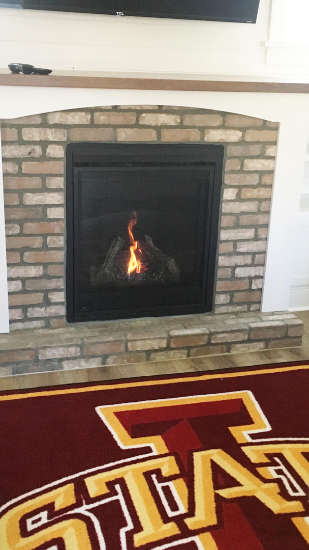 Living Room - Custom Fireplace
