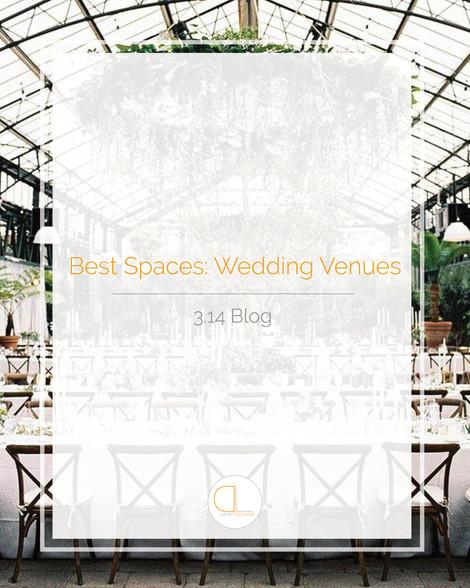Best Spaces: Wedding Venues