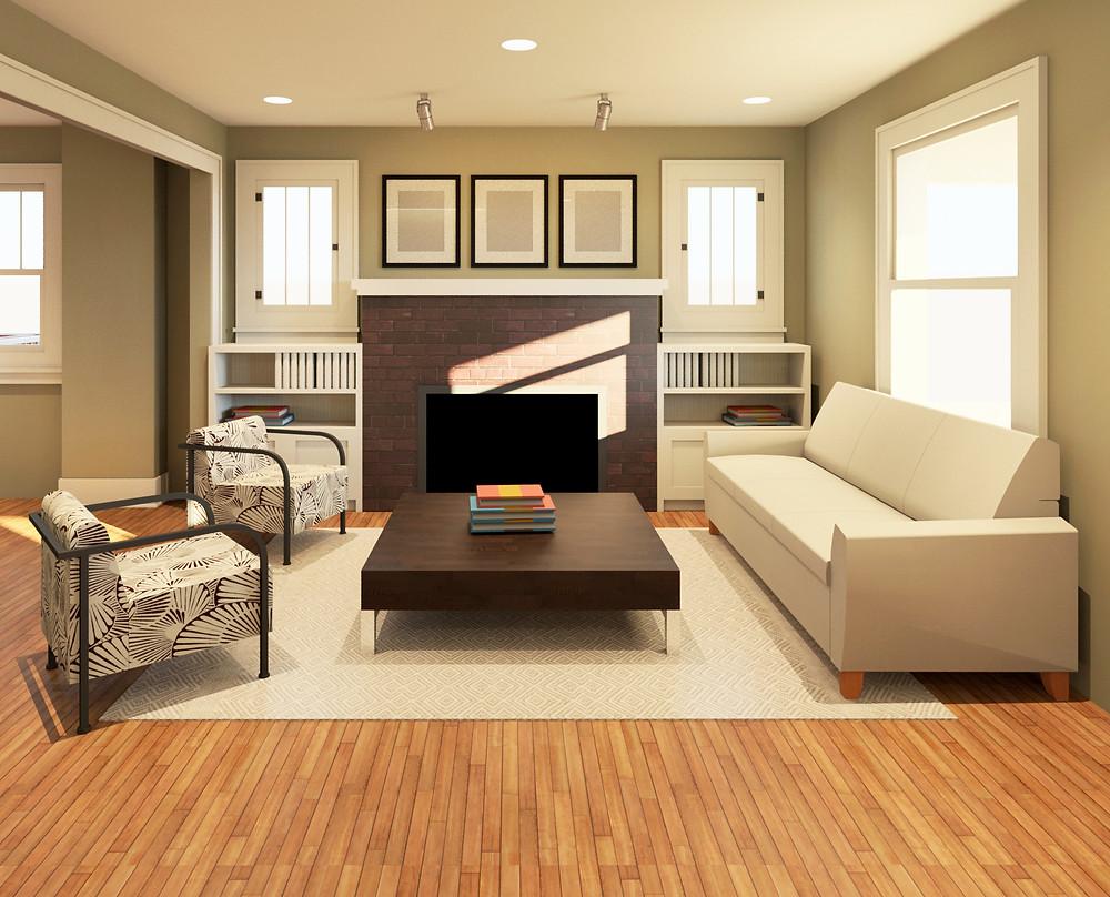 Final: Living room built-ins